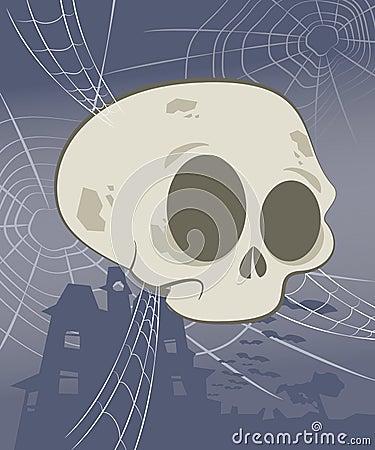 Halloween Skull Scene