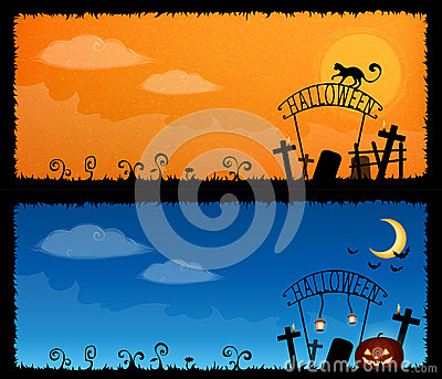 Cute Halloween theme banners
