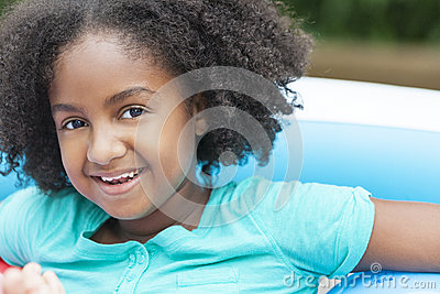 Cute Happy African American Girl