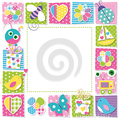 Free Cute Happy Birthday Border Royalty Free Stock Image - 48906576