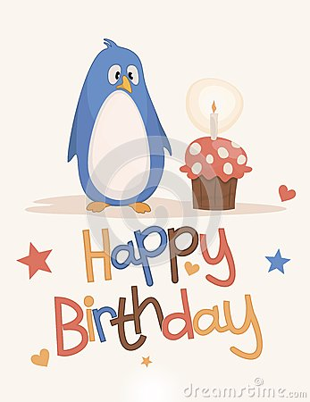 Vector Illustration: Cute happy birthday card. Image: 2