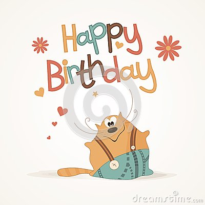 cute happy birthday card stock image image 25656961