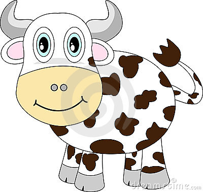 Cute Happy Cow