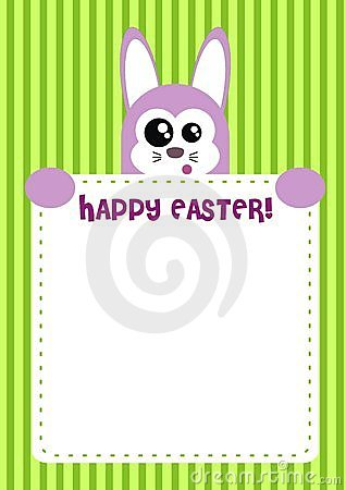 Cute Happy Easter Bunny Invitation / Card