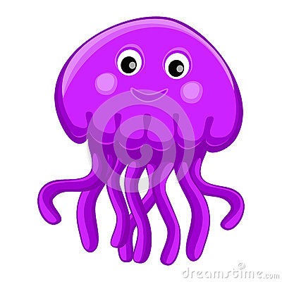 Free Cute Happy Jellyfish Cartoon Character Sea Animal Vector Illustration Invertebrate Animal Sea Fauna Medusa Vector Illustration Royalty Free Stock Images - 56324859