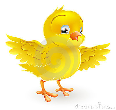Free Cute Happy Little Yellow Easter Chick Stock Photos - 23946723