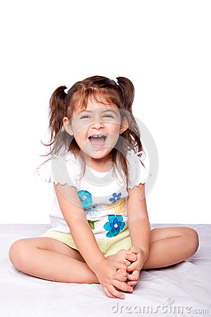 Cute happy toddler girl