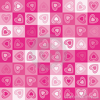 Cute heart seamless background