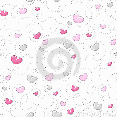 Free Cute Hearts Pattern Royalty Free Stock Photo - 35958565
