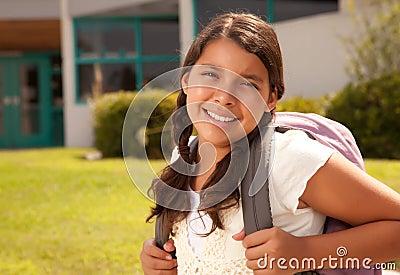 Cute Hispanic Teen Girl Student Ready for School