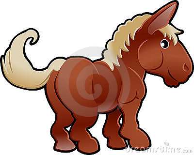 Cute Horse Farm Animal Vector