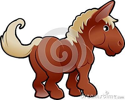 Cute Horse Farm Animal Vector