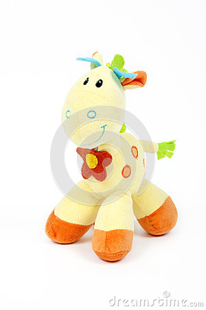 Free Cute Horse Or Giraffe Toy Isolated On A White Royalty Free Stock Photography - 62451937