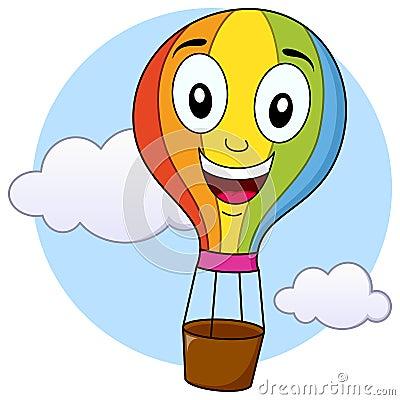 Cute Hot Air Balloon Cartoon Character