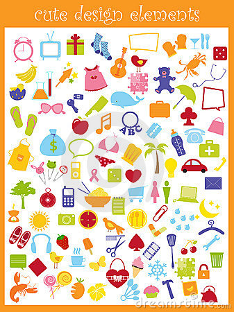 Free Cute Icons Royalty Free Stock Images - 9298699