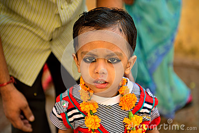 Cute Indian Boy Editorial Image