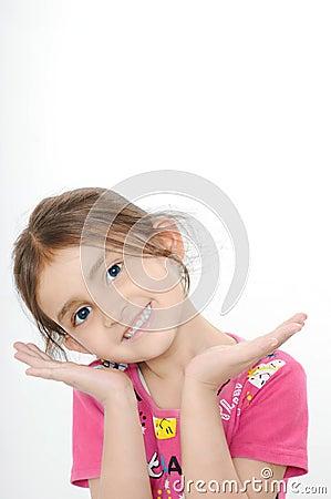 Cute Indian girl smiling.