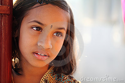 Cute Indian little girl
