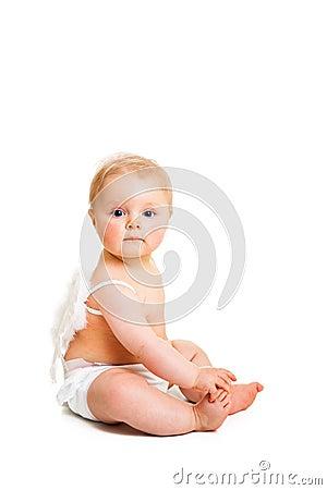 Cute infant angel