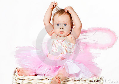 Cute infant baby girl making your hairdo