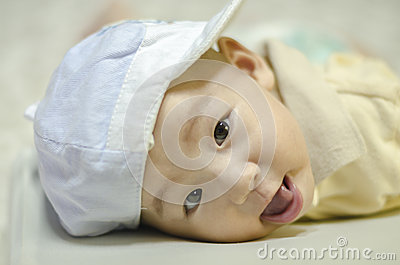Cute infant smiling