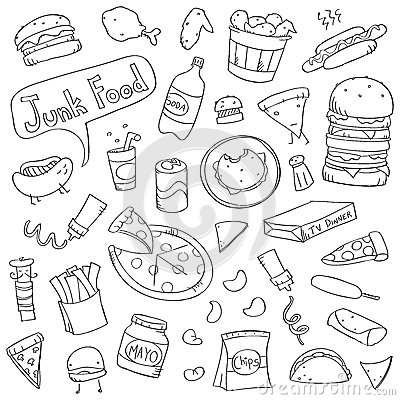 Cute Junk Food Doodles
