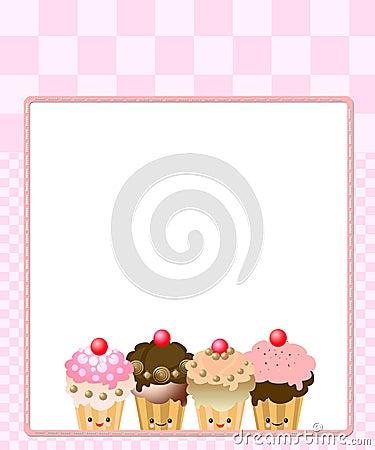 Cute kawaii cup cake