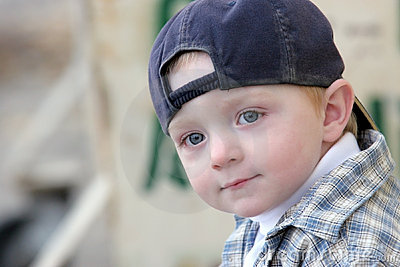Cute kid with baseball cap