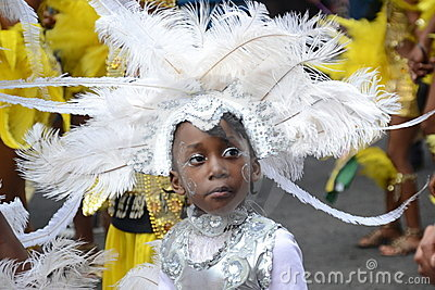 Cute Kid in a costume at Notting Hill Carnival Editorial Photo