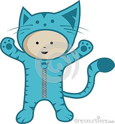 Cute kid wear cat custom