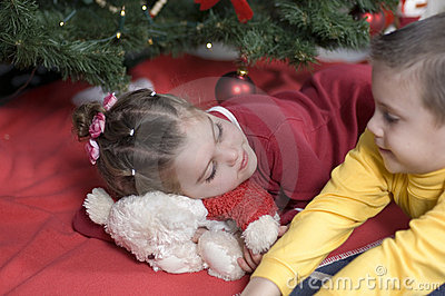 Cute kids at Christmas