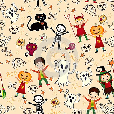 Cute kids in halloween costumes