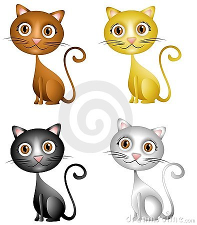 Cute Kittens Clip Art