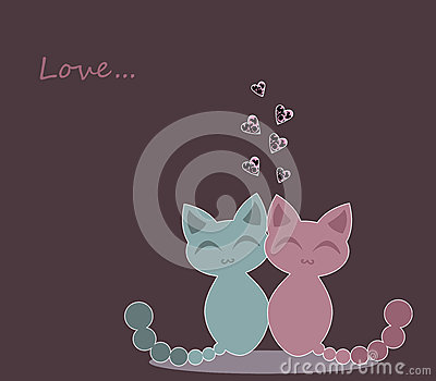 Cute kittens in love