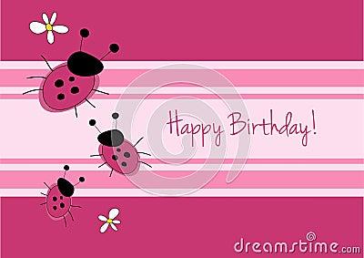 Cute ladybirg birthday card
