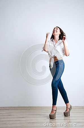 Free Cute Laughing Girl Royalty Free Stock Photo - 35048545