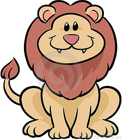 Free Cute Lion Vector Illustration Royalty Free Stock Photography - 4090037