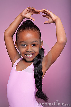 Free Cute Little African American Girl Dancing Stock Image - 22198291