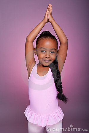 Free Cute Little African American Girl Dancing Stock Photos - 22237023