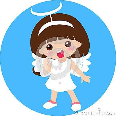 Cute little angel girl