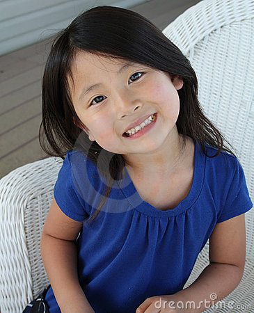 Cute little asian girl