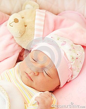 Free Cute Little Baby Sleeping Royalty Free Stock Photos - 17730708