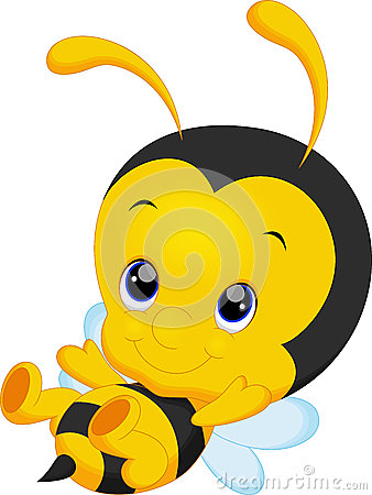 Cute Little Bee Cartoon Stock Illustration - Image: 55466693