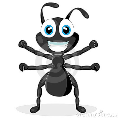 Cute little black ant