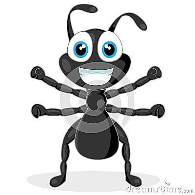 Cute little black ant
