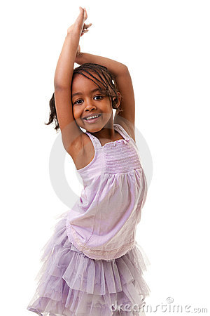 Cute little black girl