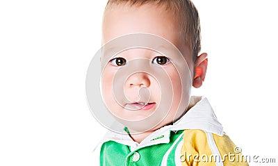 Cute little boy close-up