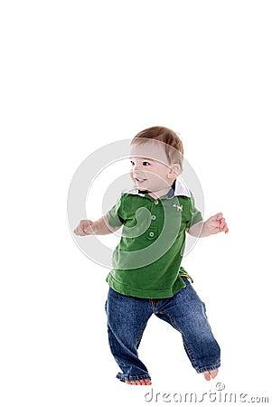 Free Cute Little Boy Dancing. Stock Photos - 7383493
