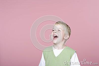 Cute Little Boy Screaming