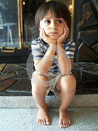 Free Cute Little Boy Thinking Royalty Free Stock Photo - 1427325